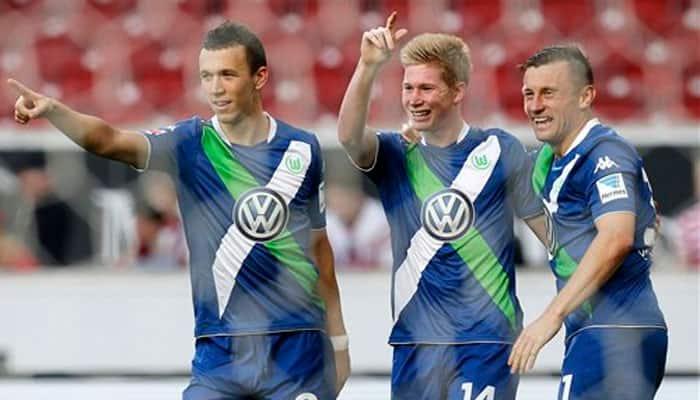 Bundesliga: Kevin de Bruyne stars as Wolfsburg climb to second