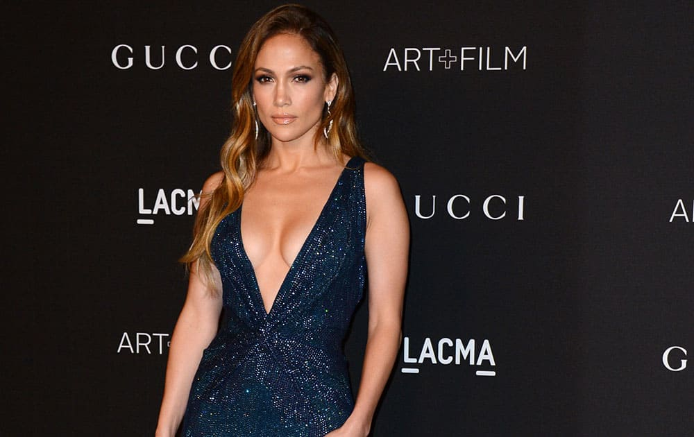 Jennifer Lopez arrives at the LACMA Art + Film Gala at LACMA in Los Angeles.
