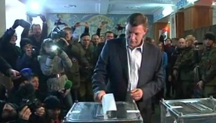 Pro-Russian rebel leader wins vote in eastern Ukraine