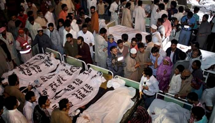 Suicide bomb attack near Wagah border in Pakistan kills at least 55, over 200 wounded