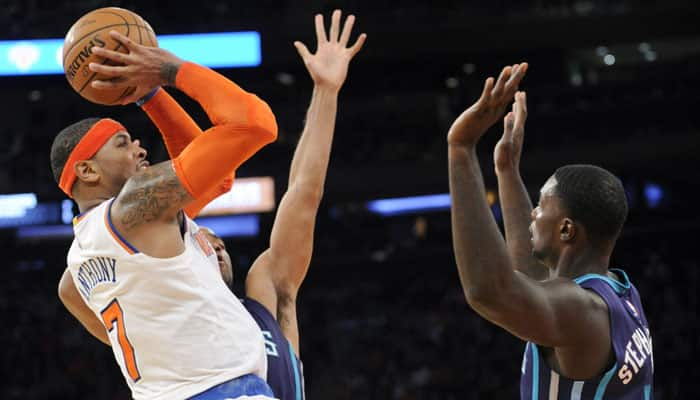 Carmel Anthony reaches milestone in Knicks win over Hornets