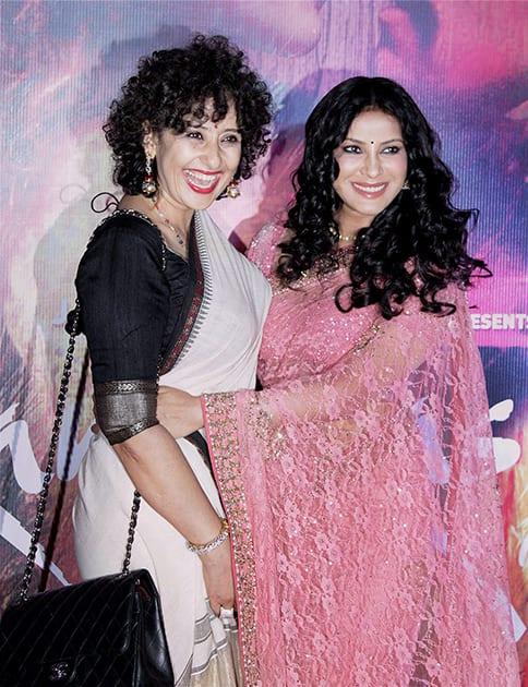Manisha Koirala and Nandana Sen during the screening of film Rang Rasiya in Mumbai.