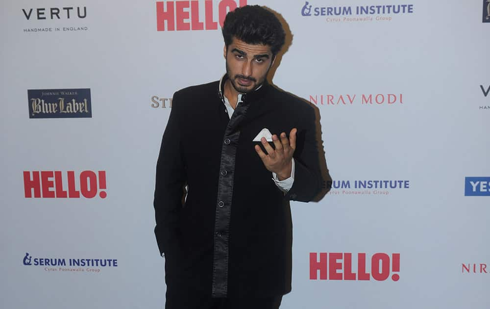 Bollywood actor Arjun Kapoor during the HELLO! Hall of fame awards 2014 in Mumbai. -DNA