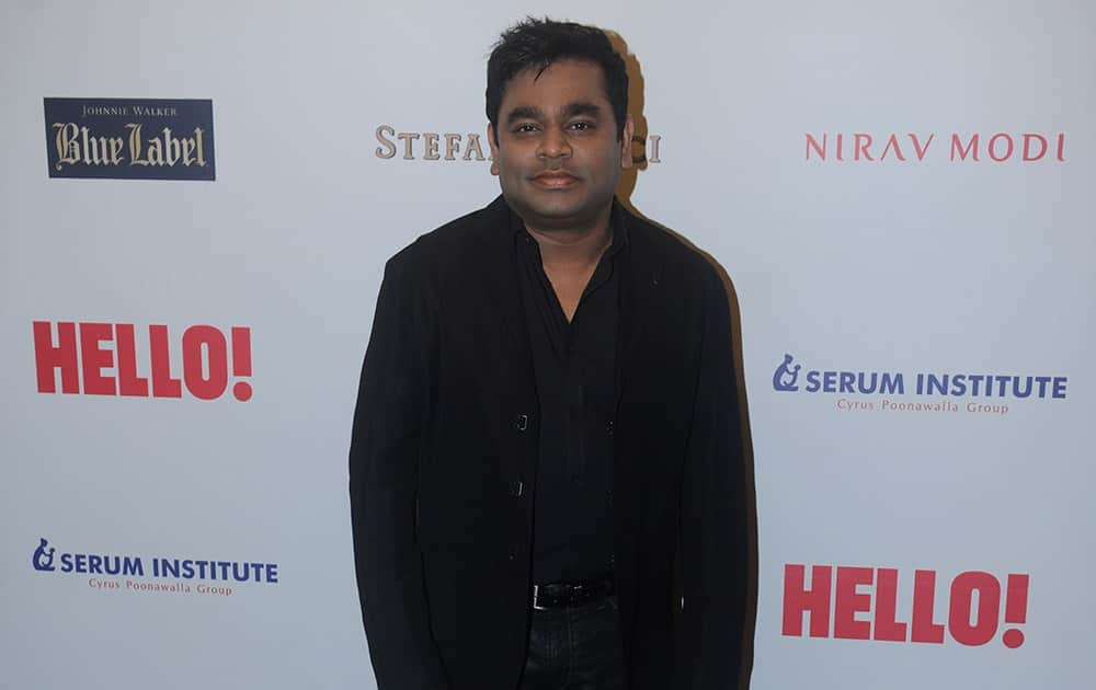 A R Rahman during the HELLO! Hall of fame awards 2014 in Mumbai. -dna