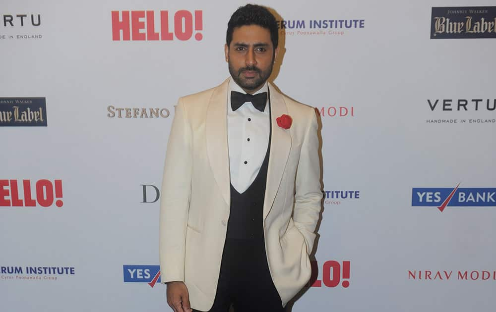 Bollywood actor Abhishek Bachchan during the HELLO! Hall of fame awards 2014. -dna