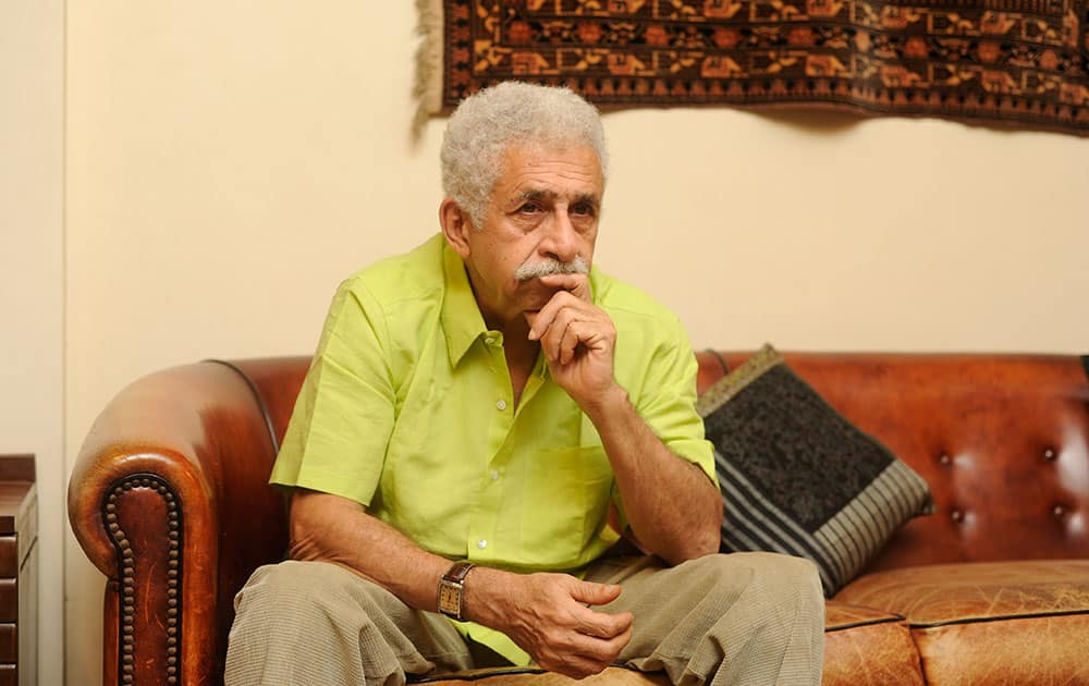 Actor Naseeruddin Shah shot exclusively for dna Afterhrs at his residence in Mumbai. -DNA