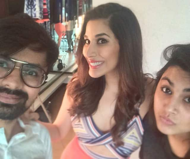 SOPHIE CHOUDRY ‏-: #Shoot life with these 2! #selfie #posers #fashion #fit #smile @mitesh784 tanimakhosla -instagram
