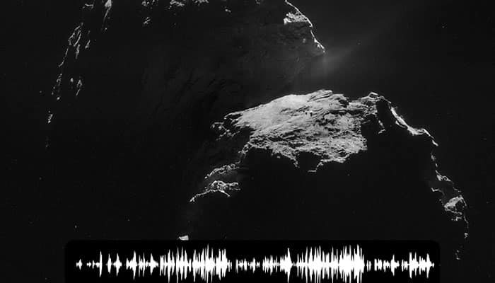 Listen to the 'mysterious' song of Rosetta's comet