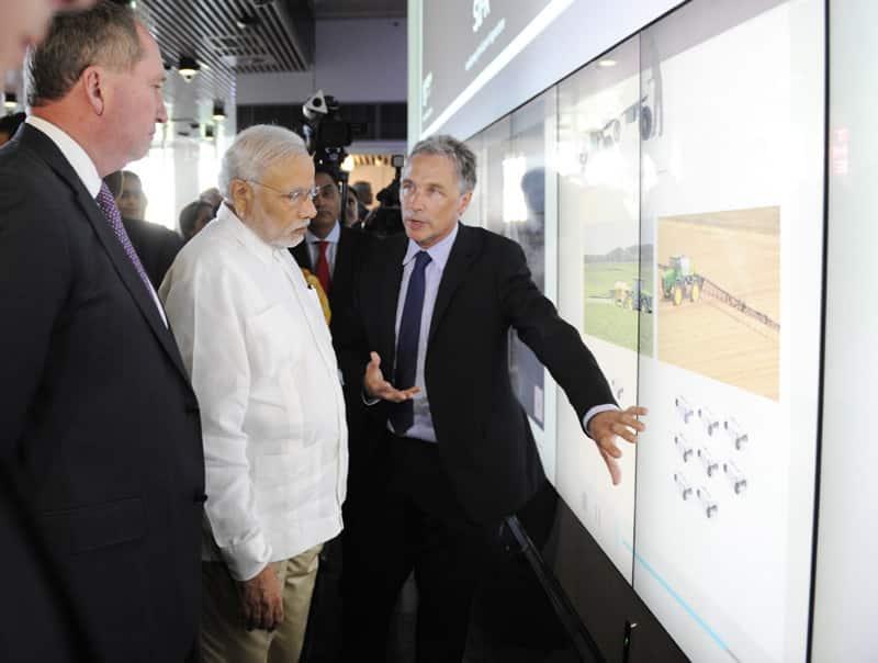 PM Narendra Modi at Queensland University of Technology, in Brisbane, Australia.