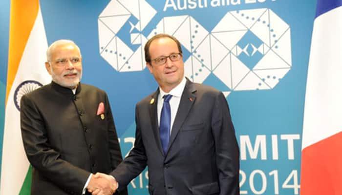 PM Narendra Modi meets French President, calls for common fight against terror