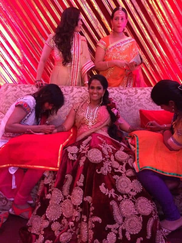 Arpita S Khan -Wedding madness from last night !  -TWITTER