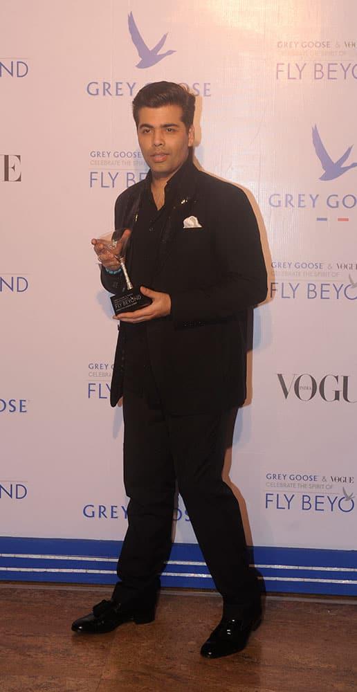 Karan Johar during Grey Goose Fly Beyond Awards 2014 in Mumbai.- Rajneesh Londhe.DNA