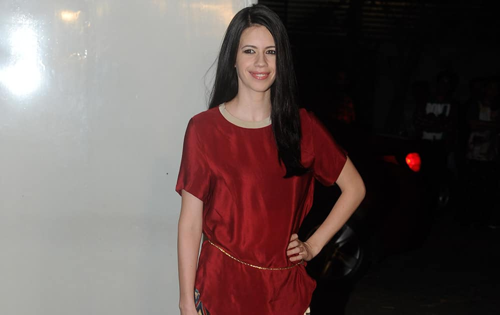 Kalki Koechlin at the private screening of the forthcoming movie 'Happy Ending' in Mumbai. -dna