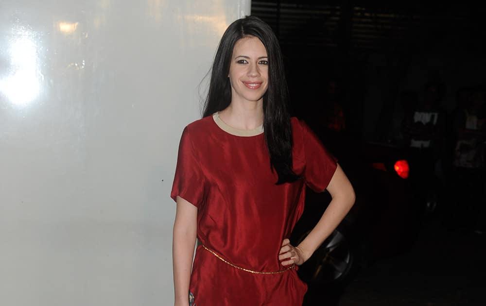 Kalki Koechlin at the private screening of the forthcoming movie 'Happy Ending' in Mumbai.- Rajneesh Londhe.dna
