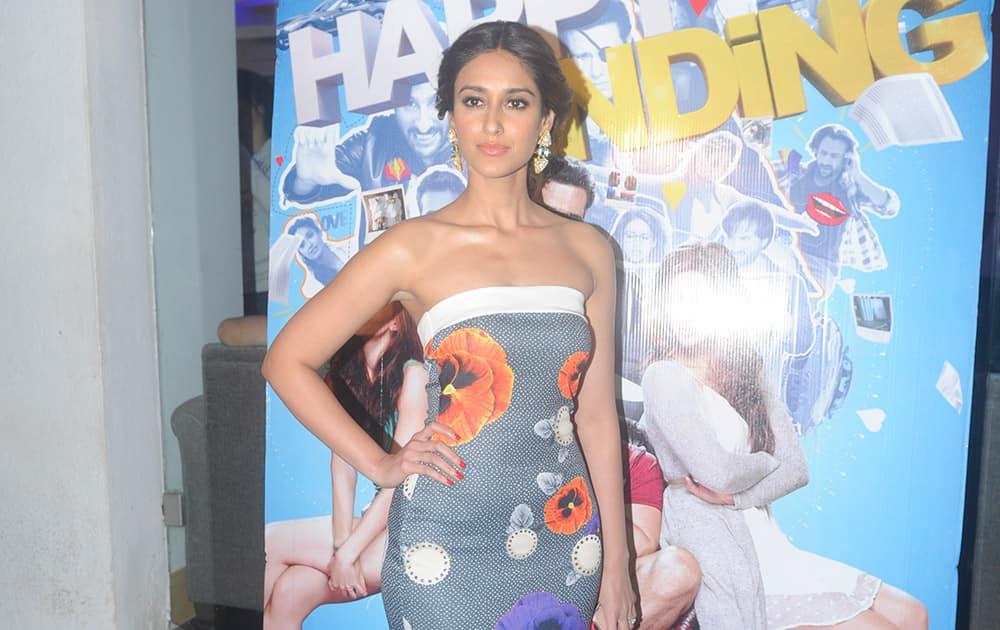 Ileana D'Cruz at the private screening of the forthcoming movie 'Happy Ending' in Mumbai.- Rajneesh Londhe.dna