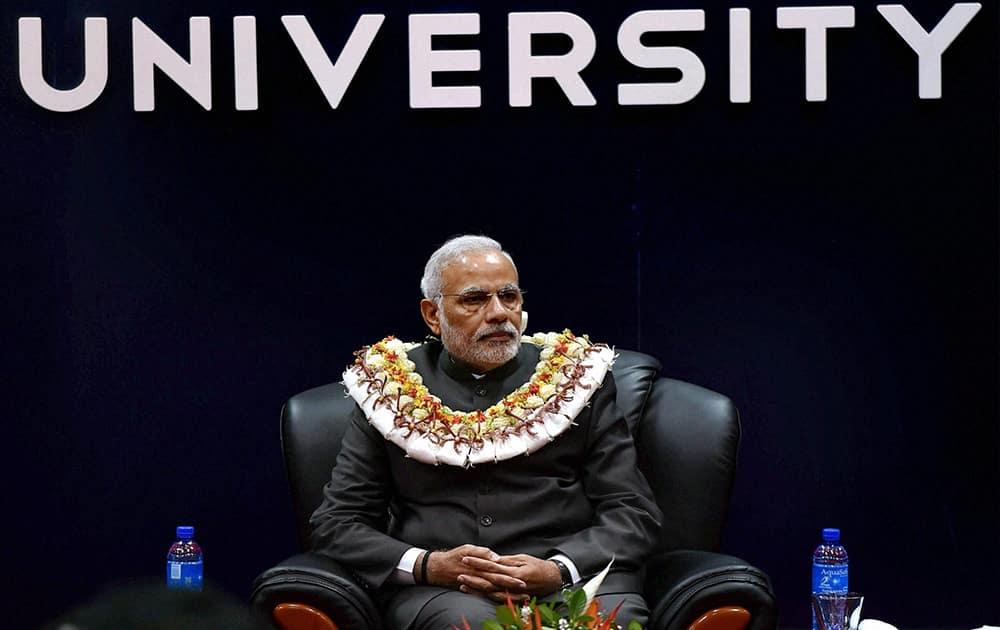 Prime Minister Narendra Modi during a function at Fiji National University in Suva.