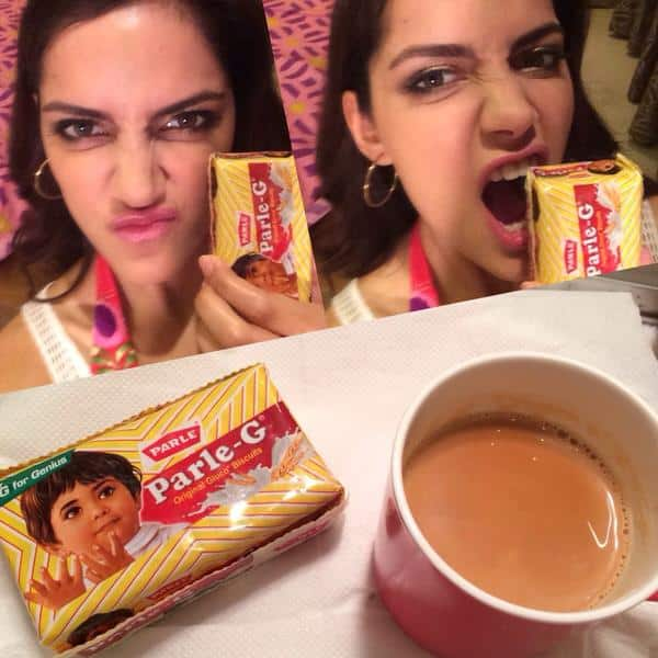 Shazahn Padamsee - Chai time calls for Parle G powerrr #parleG #theforceiswithme #Gforgenius. -twitter