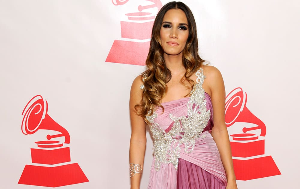 India Martinez arrives at the Latin Recording Academy Person of the Year Tribute honoring Joan Manuel Serrat at the Mandalay Bay Resort and Casino in Las Vegas.