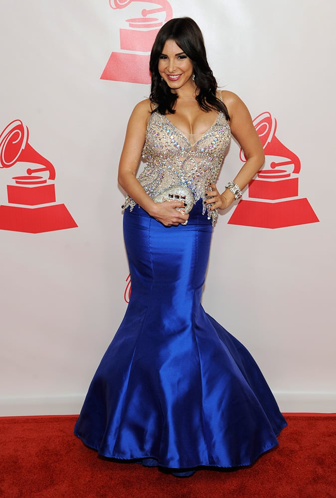 Mayra Veronica arrives at the Latin Recording Academy Person of the Year Tribute honoring Joan Manuel Serrat at the Mandalay Bay Resort and Casino in Las Vegas.