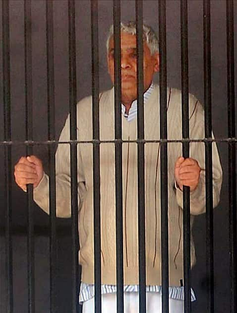 Sant Rampal in police custody at Panchkula.