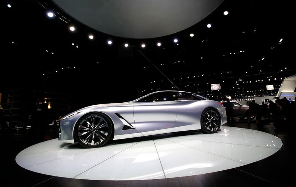 The Infiniti Q80 Inspiration concept car is showcased at the Los Angeles Auto Show, in Los Angeles. The annual event is open to the public beginning Nov. 21.