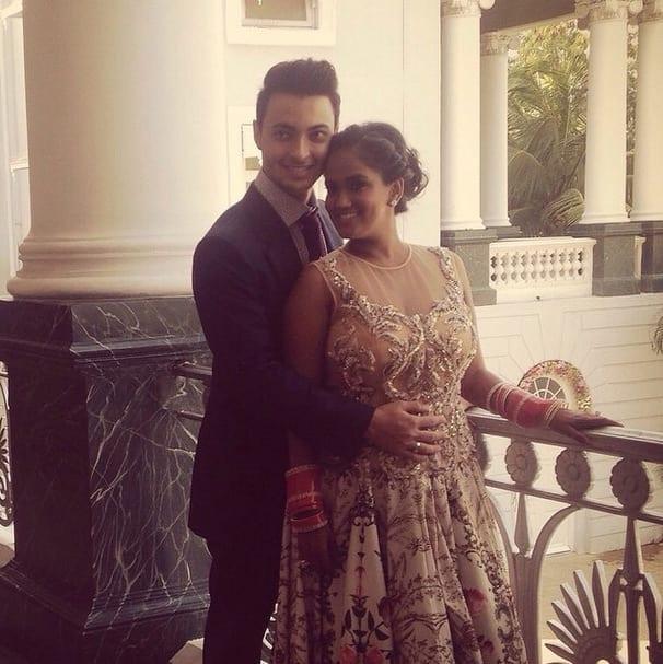aaysharma :- #falaknuma #wedding #mybeautifulwife #Mr&MrsSharma- INSTAGRAM