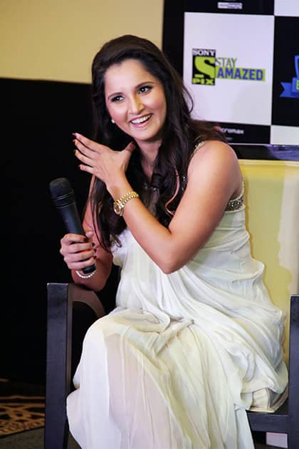 Sania Mirza at a promotional event in Hyderabad.