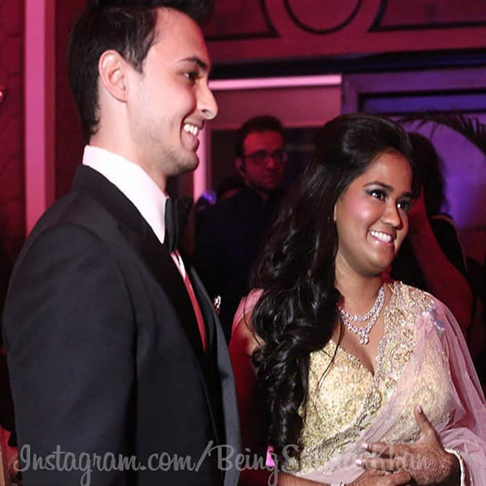 Arpita and Aayush look stunning together.
