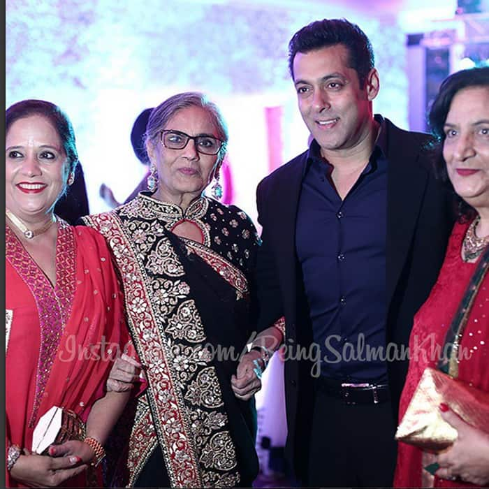 Salman with his mother Salma (in black attire).