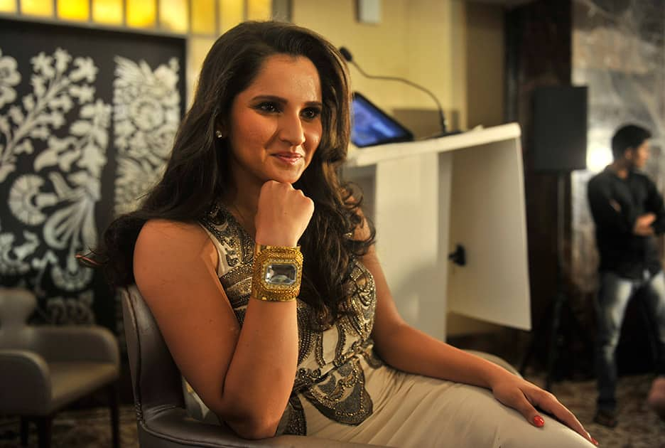Tennis player Sania Mirza during the launch of The PIX School of BONDing in Mumbai.- Swapnil Sakhare.dna
