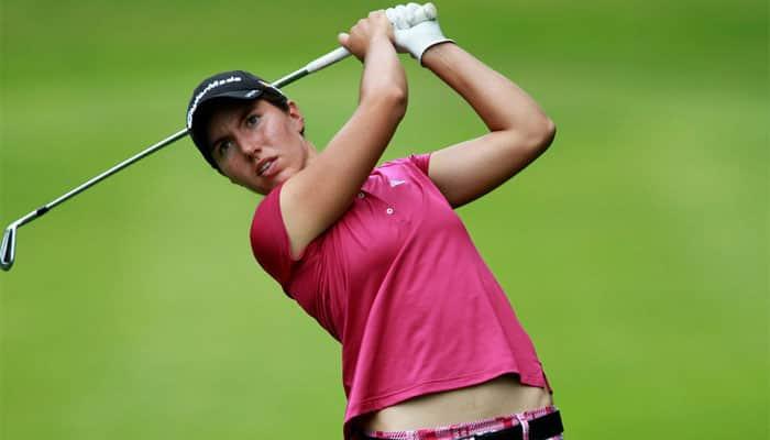 Spain`s Carlota Ciganda shares lead at LPGA Tour Championship