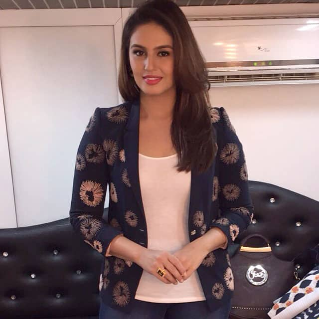 Huma Qureshi - All smiles .. Day one of badlapur promotions begin :-) -instagram