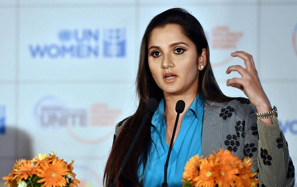 Sania Mirza speaks after she was announced as UN Womens Goodwill Ambassador for South Asia in New Delhi.