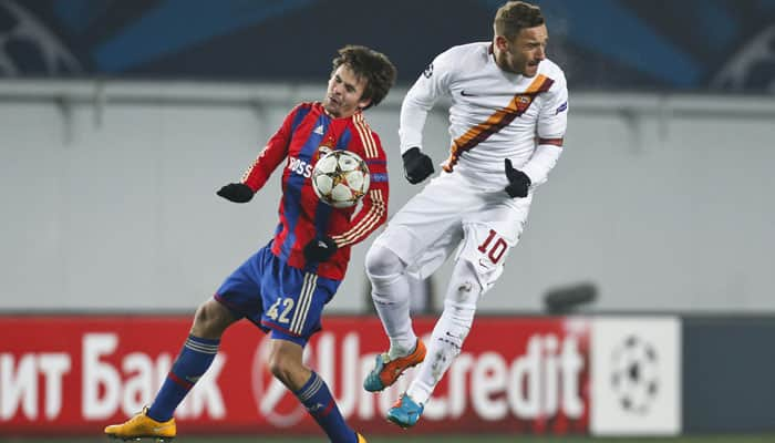 Totti`s Roma foiled by Berezutsky`s late late show for CSKA