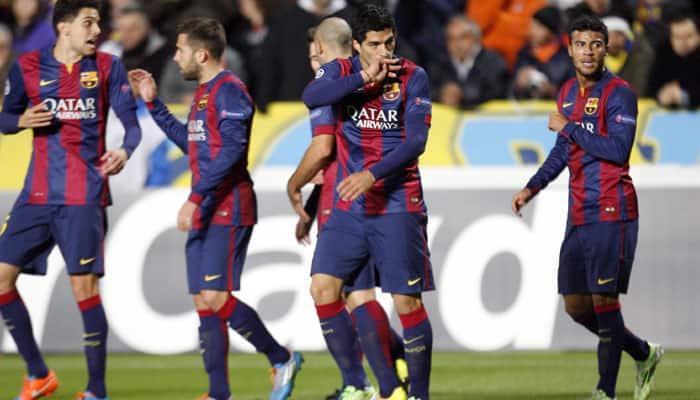 Luis Suarez scores first Barcelona goal