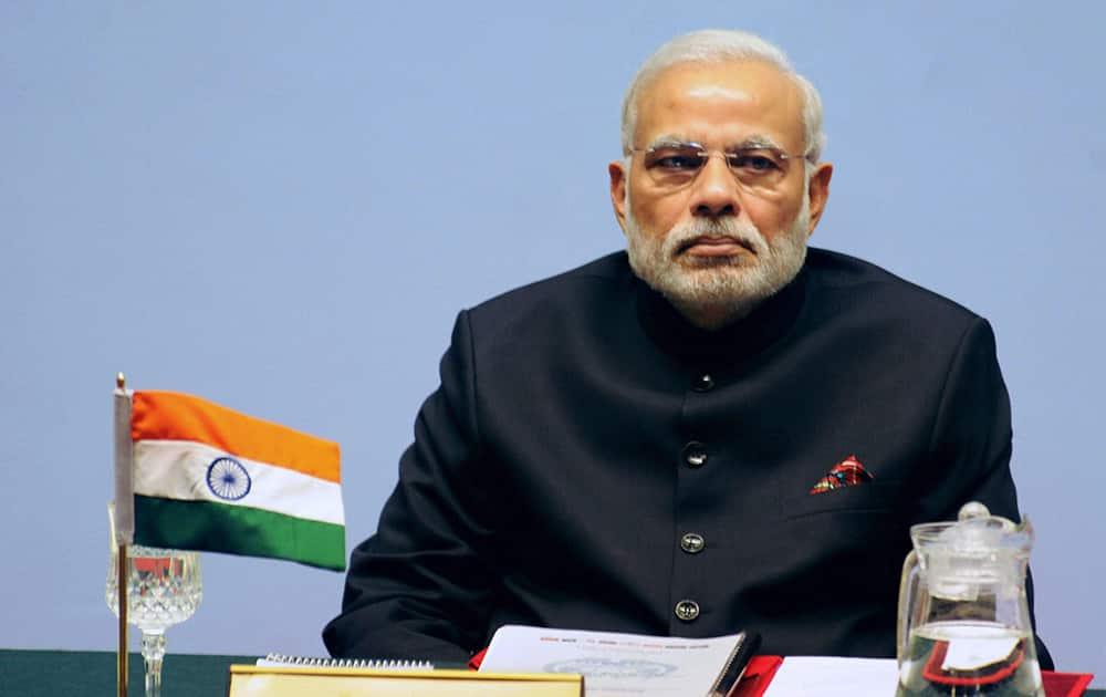 PM Narendra Modi at the inaugural session of the 18th SAARC Summit in Kathmandu.