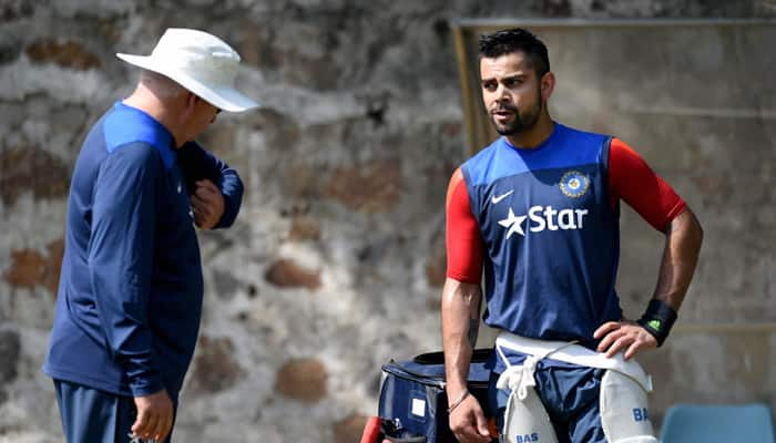 India hold closed training session wearing black arm-bands