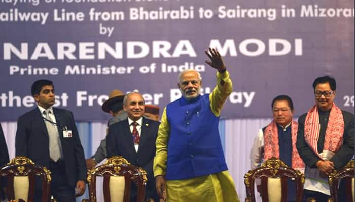 Modi flags off first train connecting Meghalaya, says NE will be centre of development