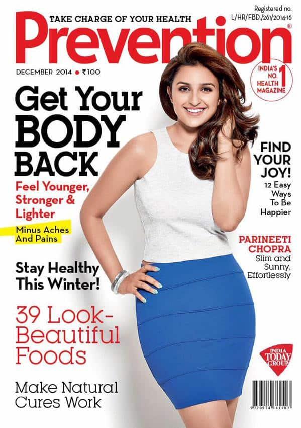 Parineeti Chopra :-My new cover!!!! @PreventionInd -twitter