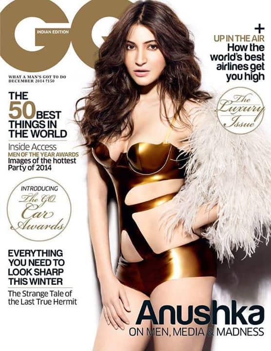 Anushka Sharma :- Anushka Sharma on the cover of GQ Indian Edition magazine - December 2014 issue. -facebook