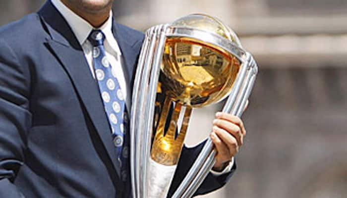 Cricket World Cup trophy showcased in Hyderabad