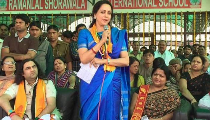 Save Yamuna, appeals Hema Malini