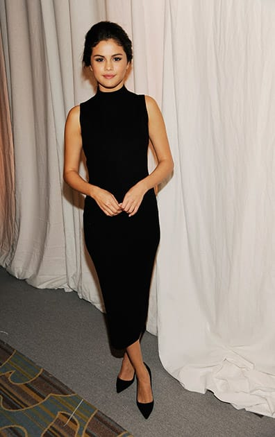 Actress Selena Gomez poses during the 2014 March of Dimes Celebration of Babies at the Beverly Wilshire Hotel.