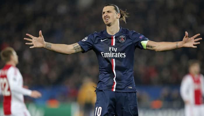Zlatan Ibrahimovic brace takes PSG top
