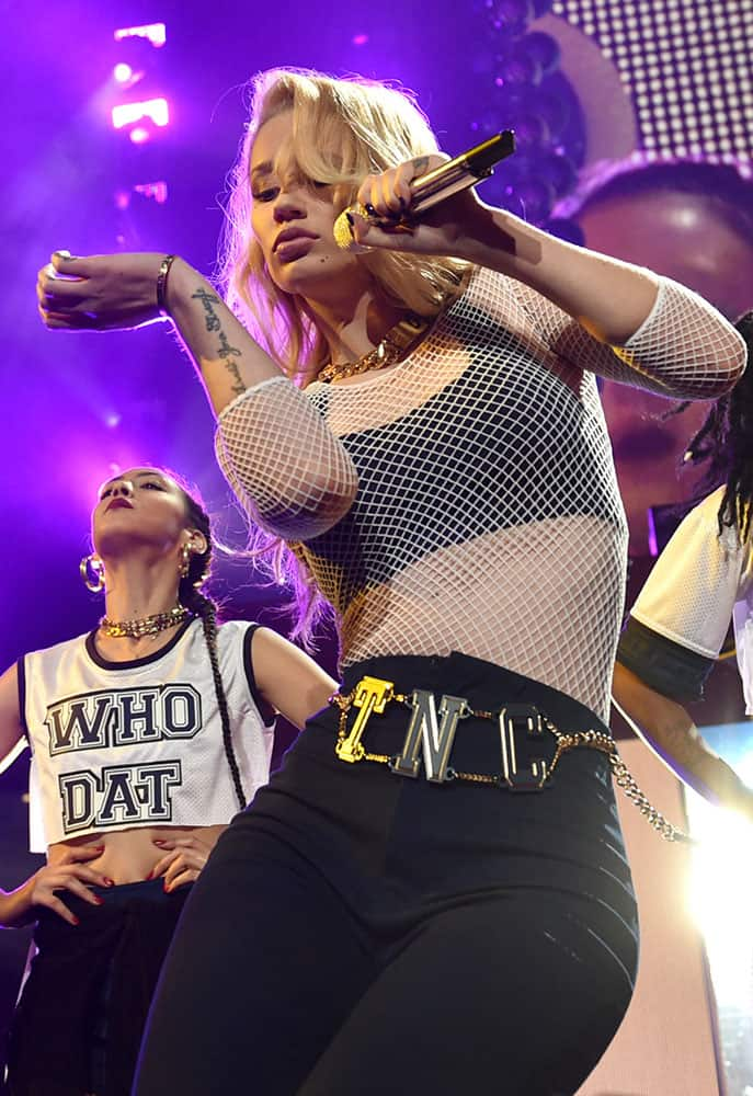 Iggy Azalea performs at the KIIS FM's Jingle Ball at the Staples Center in Los Angeles.