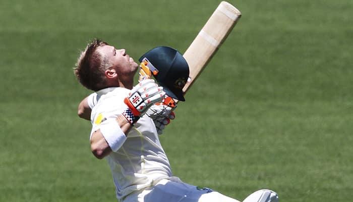 Adelaide Test: Opener David Warner cracks ton on Day 1