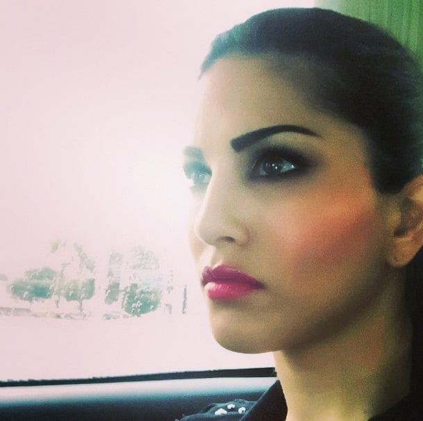 sunnyleone:- Packed up for the day!! The rain is sending us all home :( - Instagram