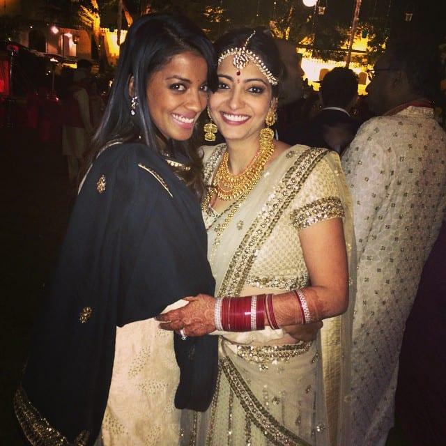 Mugdha Godse :- #happilymarried #anjorialag #love #jaipur #bff congratulations anjo and rocky -instagram