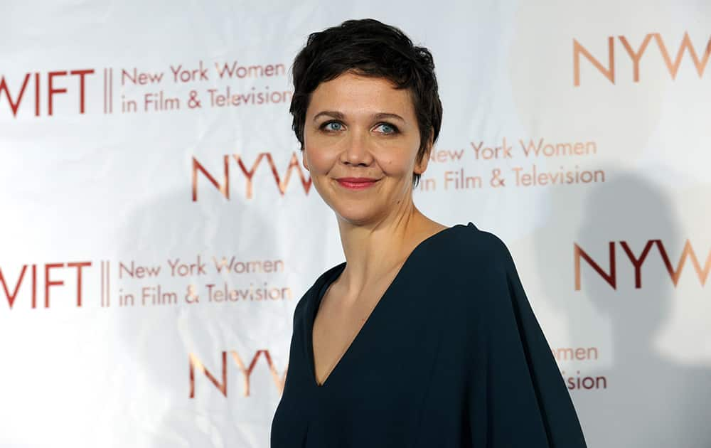 Honoree Maggie Gyllenhaal attends the New York Women in Film & Television 34th Annual Muse Awards at the New York Hilton.