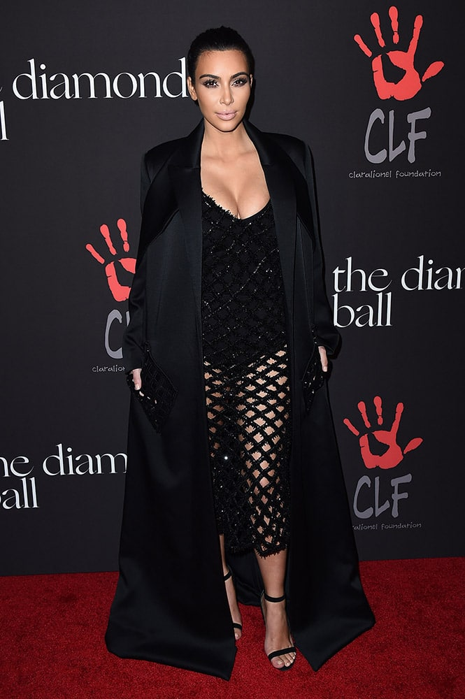 Kim Kardashian arrives at the 1st Annual Diamond Ball, in Los Angeles.
